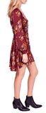 Free People Women Morning Light Floral Print Ruched Casual Dress - BrandsForLess.CO