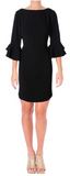 LAUREN RALPH LAUREN Women Valakis Elbow Sleeves Shift Casual Dress Black - BrandsForLess.CO