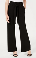 XOXO Women Self Tie Wide Leg Pants Black - BrandsForLess.CO