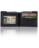 SANXIULY Men Genuine Leather Bifold Wallet Extra Capacity With 2 ID Window And RFID Blocking - BrandsForLess.CO