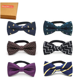Elesa Miracle Baby Boy Gift Box with Pre-tied Adjustable Neck Strap Tie Boys Bow Tie Value Set, Set of 6 - BrandsForLess.CO