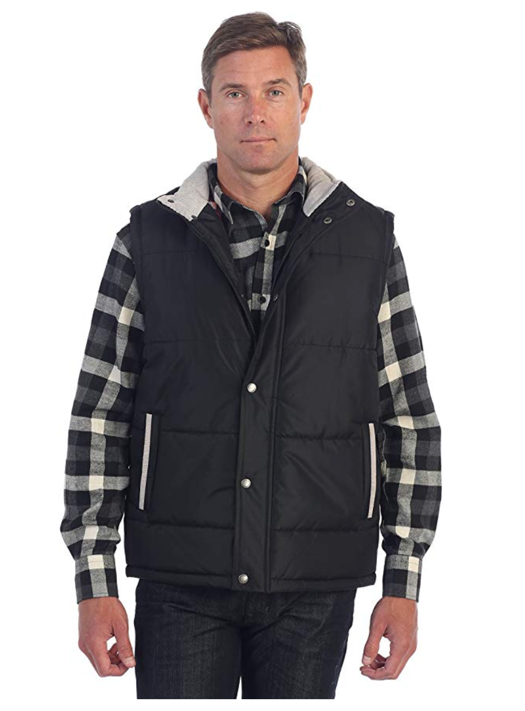 Gioberti Men Padded Vest with Flannel Lining - BrandsForLess.CO