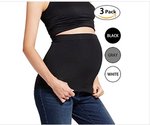 Women Maternity Belly Band 3 Pack Seamless Everyday Support Bands for Pregnancy, Bentibo - BrandsForLess.CO