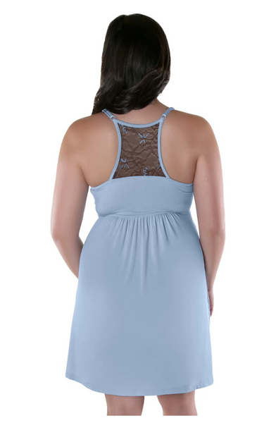 Kindred Bravely Lucille Nursing Nightgown & Maternity Gown Color:Twilight Haze in Large - BrandsForLess.CO