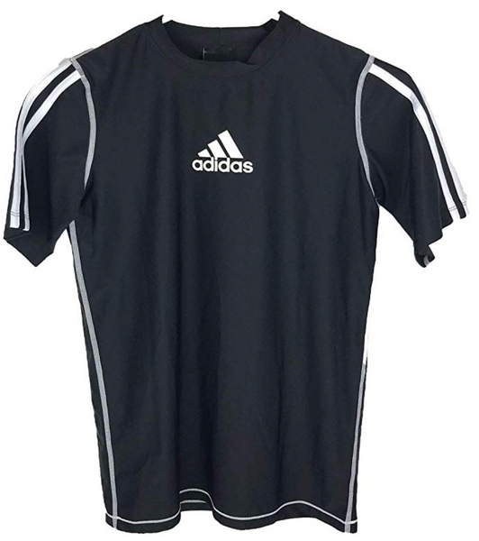 adidas Boys Core Active Short Sleeve Tee, Black - BrandsForLess.CO