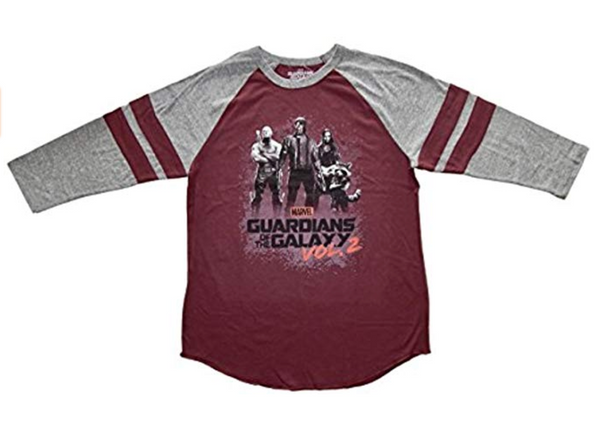 Guardians of the Galaxy Group Adult Raglan T-shirt, Large, Unisex - BrandsForLess.CO