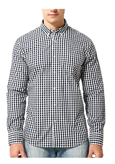 Bentibo Men Long Sleeve Shirt Plaid Button Down Casual Dress Shirts - BrandsForLess.CO