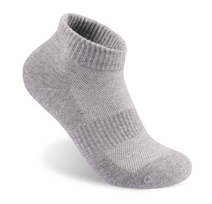 Men Athletic Ankle Socks Sports Low Cut Socks Pure Color Cotton Socks Grey(Pack of 5) Size:7-11 - BrandsForLess.CO