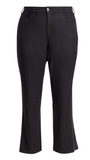NYDJ, Plus Size wide leg trousers Color:Black Size:28W - BrandsForLess.CO