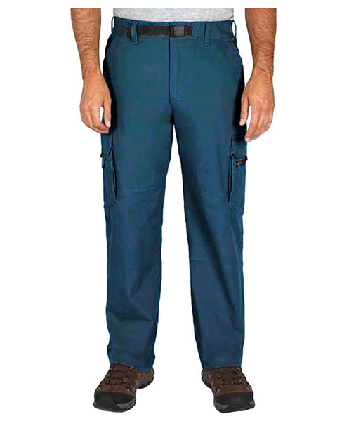 BC Clothing Men's Cotton Lined Adjustable Belted Cargo Pants (Teal, Mx34) - BrandsForLess.CO