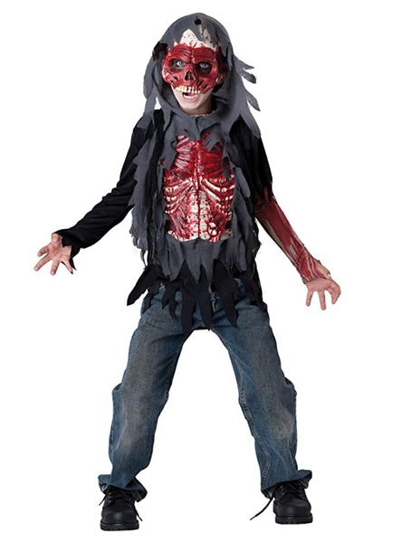 InCharacter Costumes Child's Skinned Alive Costume, Grey/Red, Size:10 - BrandsForLess.CO