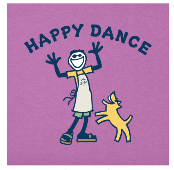 Life is Good WOMEN HAPPY DANCE JAKE CRUSHER TEE COLOR: HAPPY GRAPE - BrandsForLess.CO