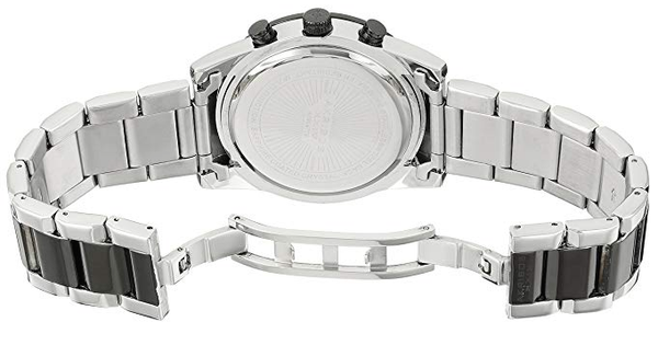 Akribos XXIV Men AK904 Ion Plated Two Time Zone Stainless Steel Watch - BrandsForLess.CO