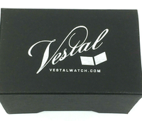 Vestal Women EAJ001 Electra Jelly Black PU Watch - BrandsForLess.CO
