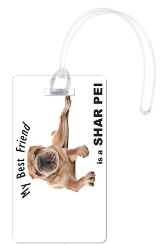 Rikki Knight My Best Friend is A Br Sharpei Dog Flexi, White - BrandsForLess.CO