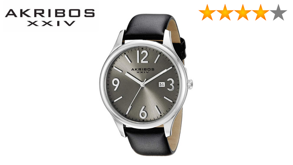 Akribos XXIV Men AK869SS Round Silver Dial Three Hand Quartz Stainless Steel Strap Watch - BrandsForLess.CO