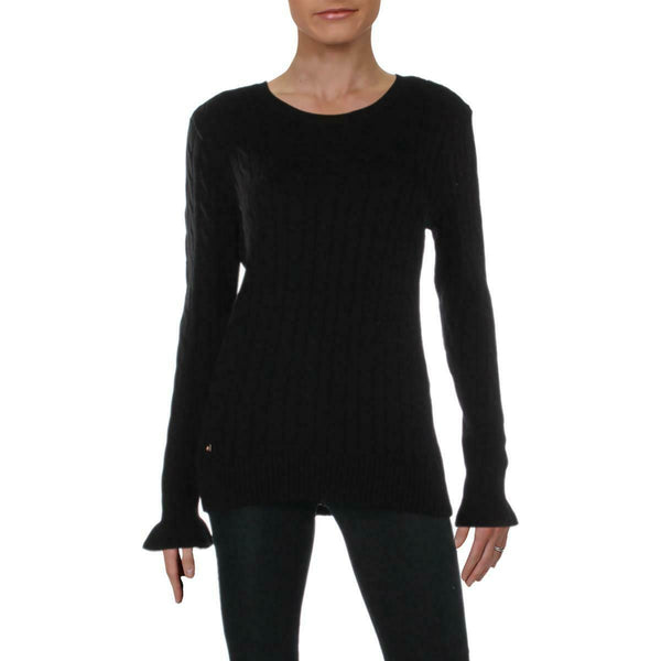 LAUREN RALPH LAUREN Women Knitted Sweater with a Crewneck - BrandsForLess.CO