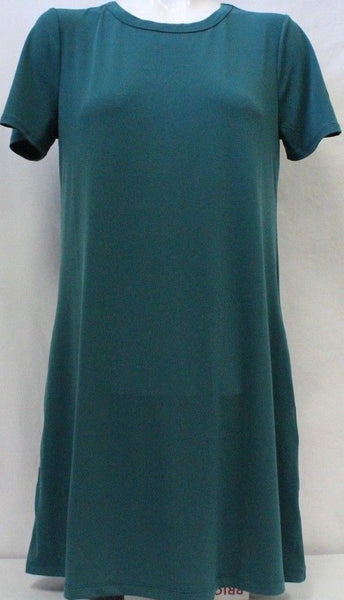 Kenneth Cole Women Short Sleeve Tunic Dress With Pockets in Green XLarge - BrandsForLess.CO