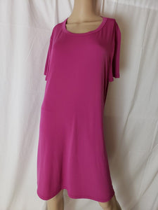Kenneth Cole Women Short Sleeve Tunic Dress With Pockets in Pink Large - BrandsForLess.CO