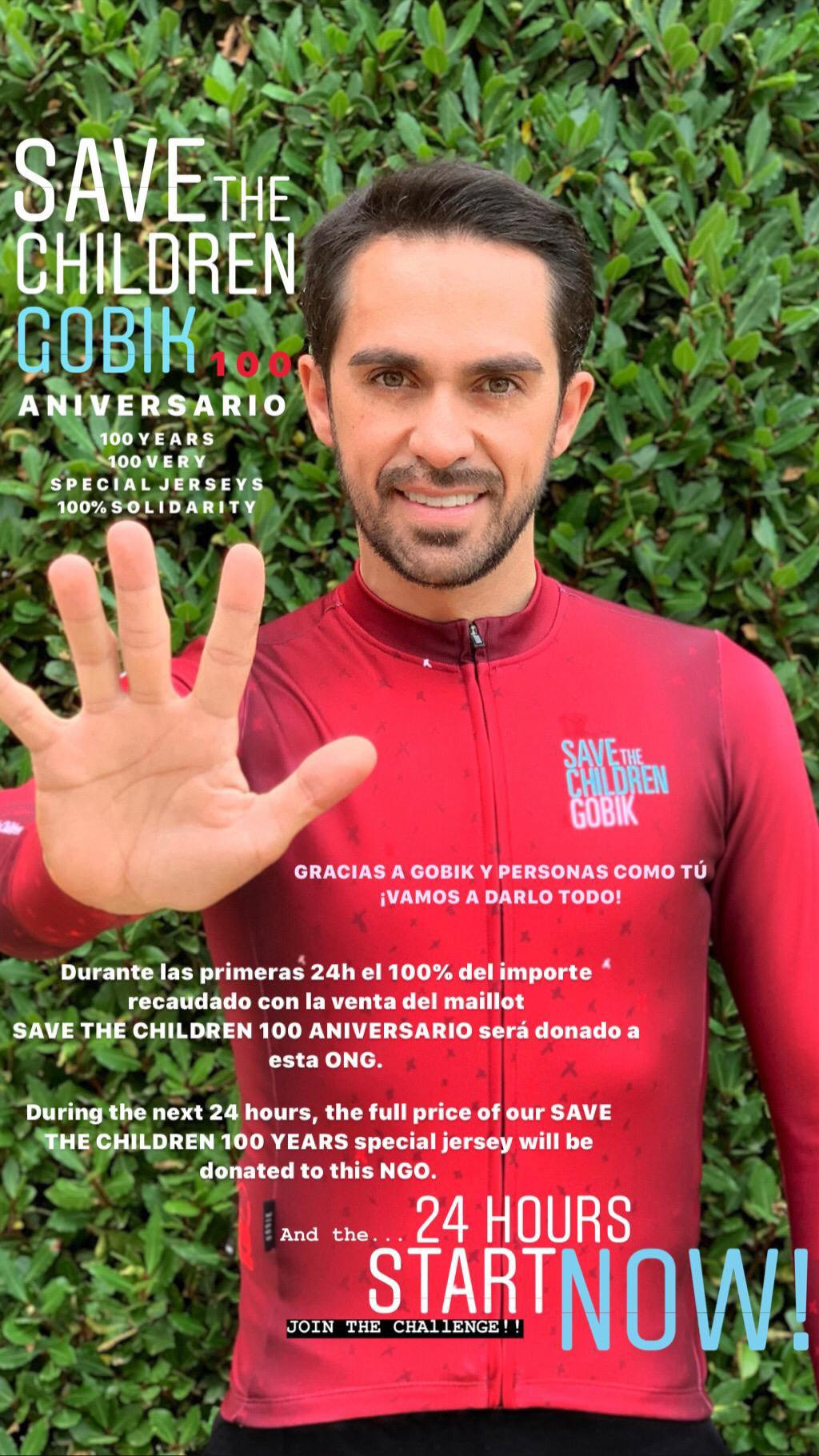 Alberto Contador Save The Children x Gobik 2019