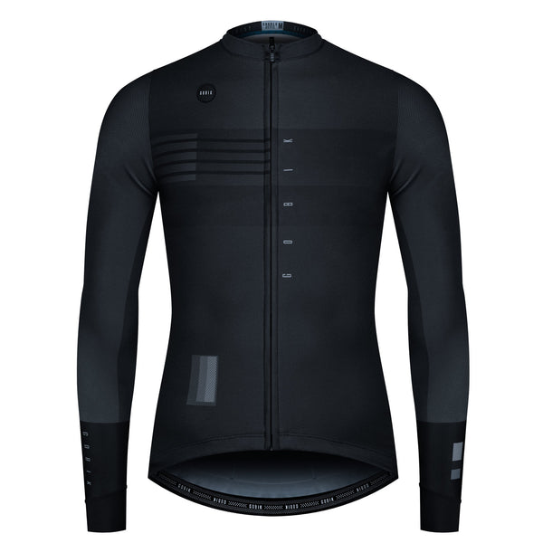 MAILLOT HOMBRE MANGA LARGA SUPERCOBBLE BLACK SHADE