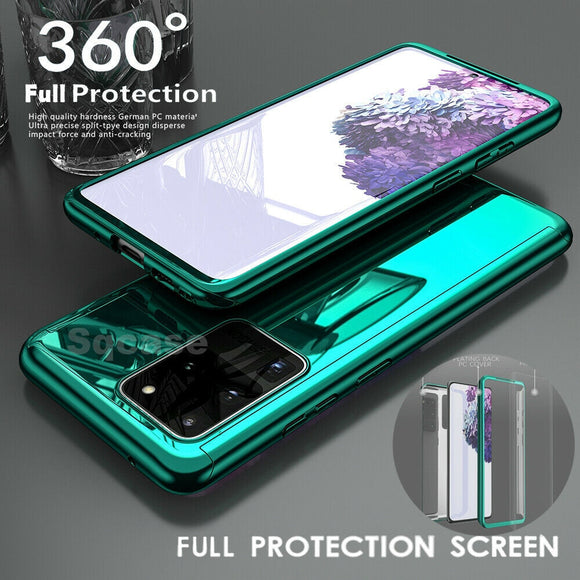 360° Plating Mirror Hybrid Shockproof Hard Cover For Samsung S20 S20 Plus S10 S20 Note 10