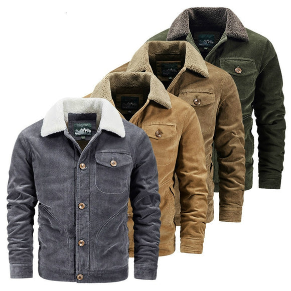 Men Warm Thick Corduroy Cotton Jacket ( 💥Over $89+ ,Code SAVE10🛒)