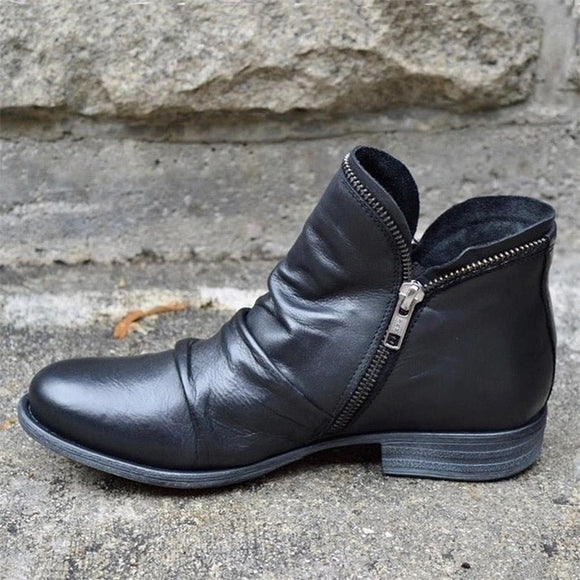 2020 New Chunky Boots Fashion Pocket Platform Boots Women Ankle Boots