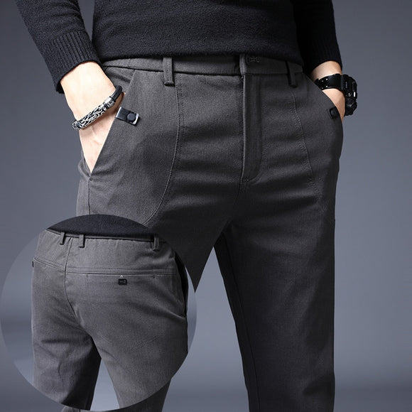 Men's Slim Casual Pants Full Length Business Trousers ( 💥Over $89+ ,Code SAVE10🛒)