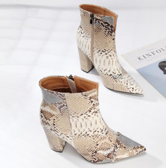 New Winter Thick Heels Ankle Boots