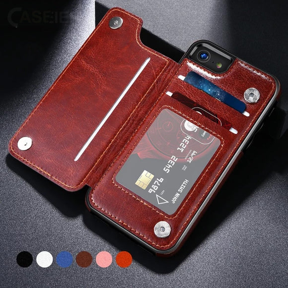 Business Leather Card Slot Case For iphone 11 11Pro 11Pro MAX 6 6S 7 8 Plus X XS MAX XR(BUY 2 GET 5% OFF,BUY 3 GET 10% OFF)