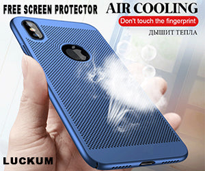 Ultra Slim Grid Heat Dissipate Case For iPhone Series (Free Screen Protector & Buy More For Extra Discounts)