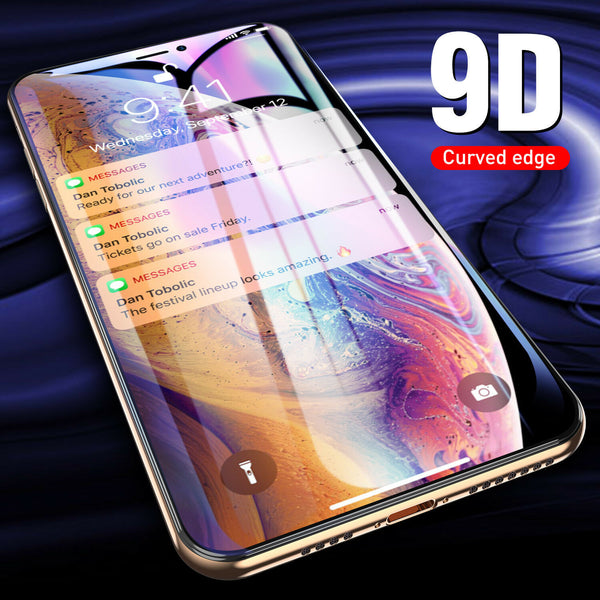 Full Cover Protective Glass For iPhone X XS Max 7 8 6 6S Plus