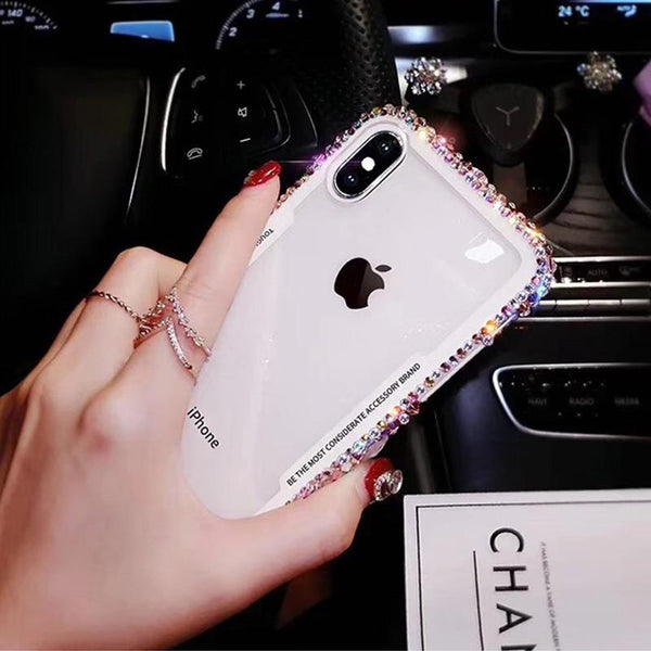 Ultra Thin Heavy Duty Tempered Glass Phone Case For iPhone X XS XR XS MAX 8 7 6S 6 Plus