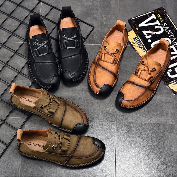 Men's Shoes - Slip On Brown Luxury Brand Boat Shoes