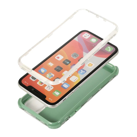 Candy Color Shockproof Bumper Phone Case For iPhone 12 12Pro Solid Color Soft Back Cover