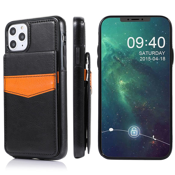 Vertical Flip Wallet PU Leather Case for iPhone