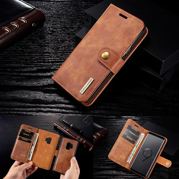 Vertical Flip Wallet Leather Case For Samsung S6 S7 Edge S8 S9+ S10+ Lite Note 8 9