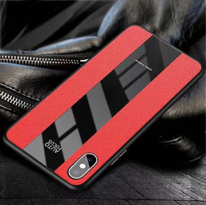 Ultra Thin Silicone Shockproof  Deluxe Vintage PU Leather Case with Strap For iPhone X XR XS Max 8 7