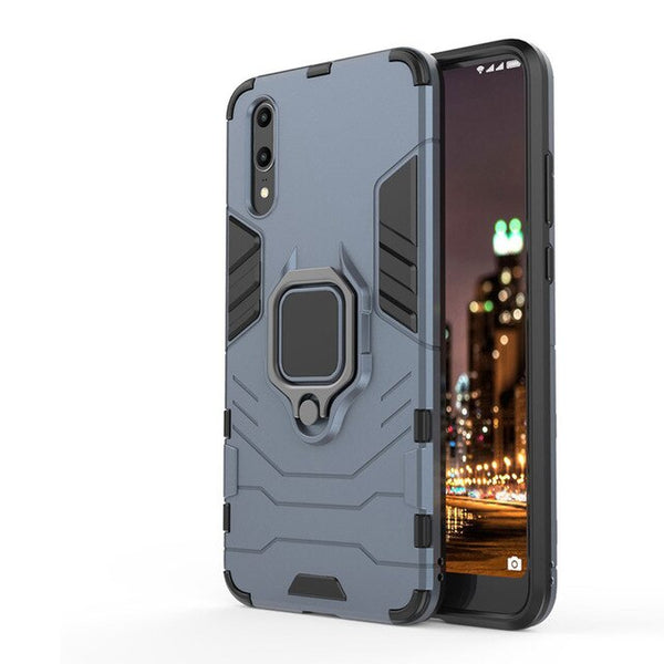 Luxury Car Holder Ring Shockproof Case For Huawei P20 P30 Pro Lite Mate 20 Pro Lite