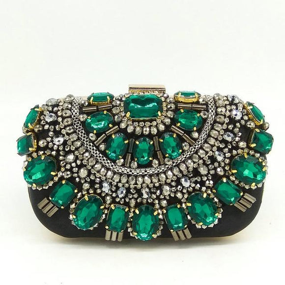 Bag - Women Crystal Evening Purse Metal Clutches