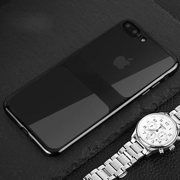 Luxury Electroplating Soft TPU Splice Pattern Clear Ultra Thin Case For iPhone X XR XS Max 8 7 PLUS