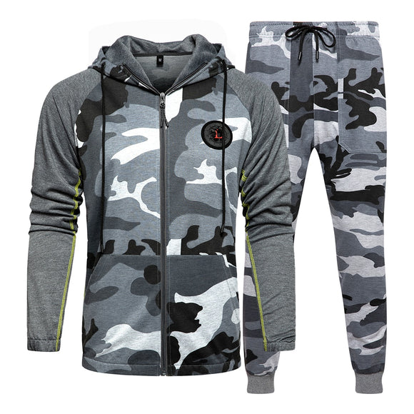 Men Tracksuit Fitness Camouflage Sweatshirts ( 💥Over $89+ ,Code SAVE10🛒)