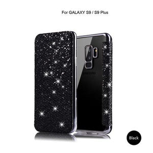 Bling Glitter Flip Leather Case for Samsung Galaxy S8 S9 S10 Plus E Note 8