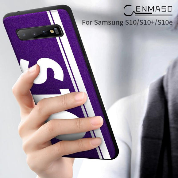 Luxury Shockproof Original Sports Street Culture Leather Soft Edge Protect Cover For Samsung S10E S10 Lite