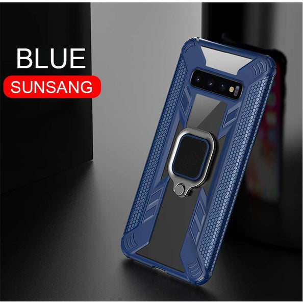 Luxury Armor Shockproof Ring Ultra Thin Phone Case For Samsung Galaxy S10 Plus S10 iPhone XS MAX XR X-8 7Plus 6 6s