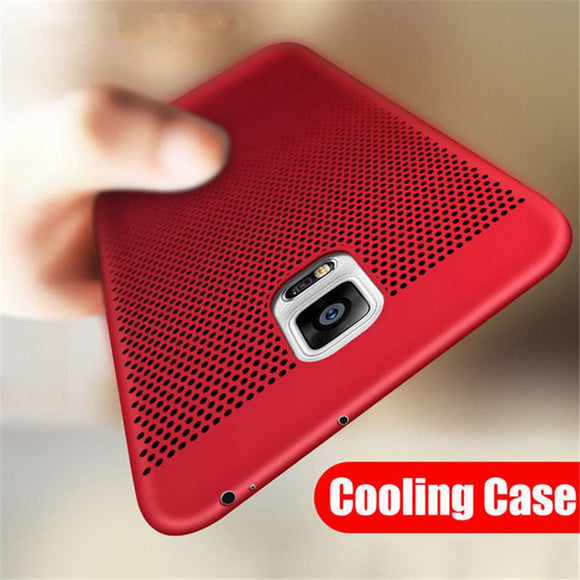 Luxury Ultra Thin Shockproof Heat Dissipation Case For Samsung Galaxy S8 S9 S10 Plus Lite S6 S7 Edge
