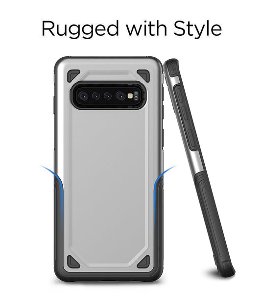 Military Shockproof Armor Hybrid PC+TPU Cover Cases For Samsung S10e S10 Plus Note 9 8 S9 S8 Plus S7 Edge