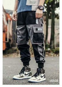 Men's Patchwork Streetwear Hip Hop Multi-Pocket Cargo Pant ( 💥Over $89+ ,Code SAVE10🛒)