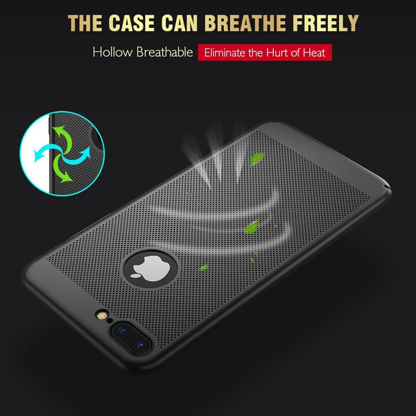 Luxury Ultra Slim Shockproof Hollow Heat Dissipation Cases For iPhone XS MAX XR X 8 7 6Plus